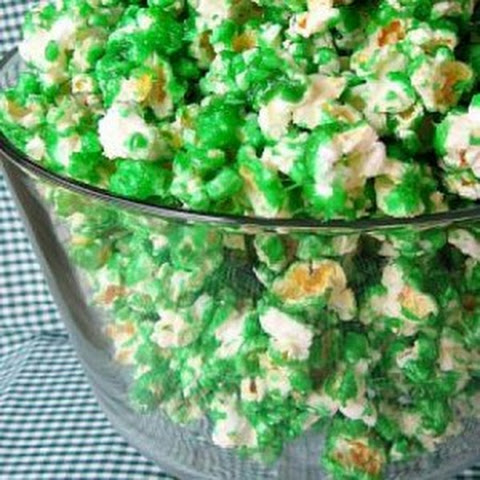 Green Candied Popcorn (St Patrick's Day)