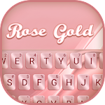 Rose Gold Silk Keyboard Theme Icon