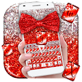 Free Red Glitter Bow Theme APK for Windows 8