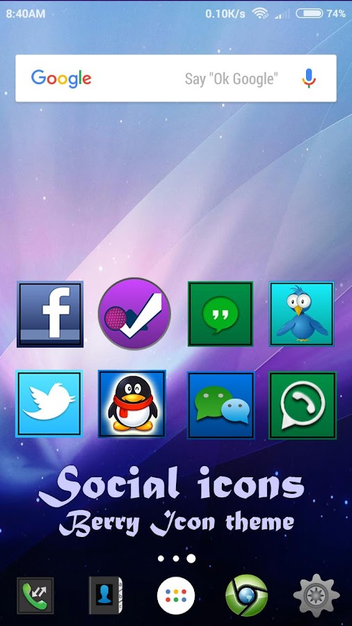 Berry icon theme Screenshot 3