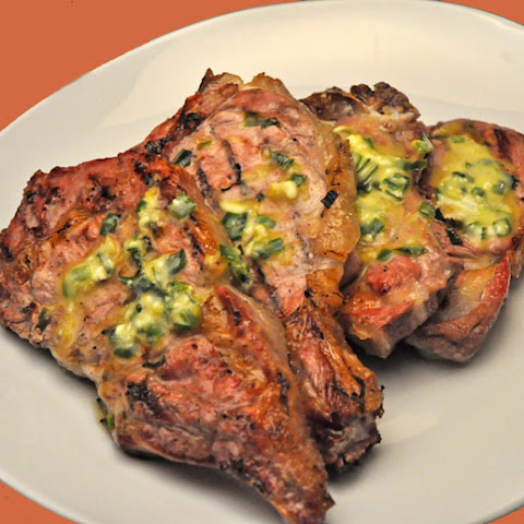 Grilled Veal Chops with Tarragon Butter