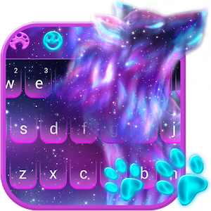 Night Sky Spirit Wolf Keyboard Theme For PC