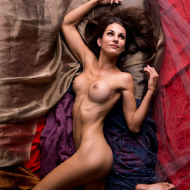 Colours by Steve Osmond - Nudes & Boudoir Artistic Nude ( colourful, nude, alberta, woman, calgary, brunette )