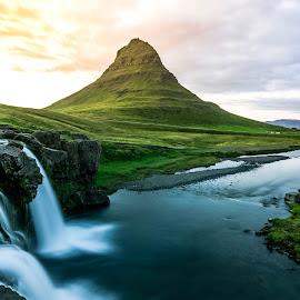 Kirkjufell by Soumya Ghosh - Landscapes Mountains & Hills ( kirkjufell, hill, iceland, snaefellsnes, waterfall )