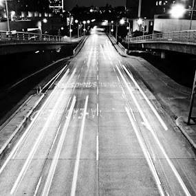 Los(t) Angeles by Paolo Tangari - City,  Street & Park  Street Scenes ( america, street, losangeles, night, road )