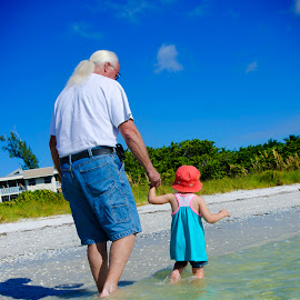 A walk through time by Christina Smith - People Family ( a walk, grandpa, granddaughter, children candids, summer, ocean, fun, beach, twisted images photography, KidsOfSummer )
