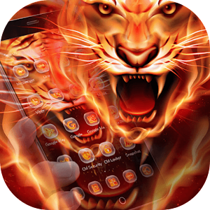 Fire Tiger Wallpaper For PC