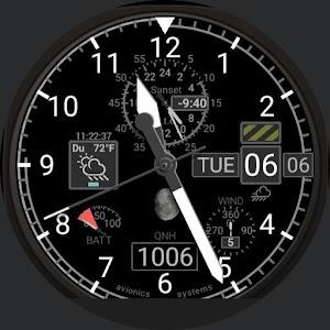 Aviator Uhr Gesicht für Piloten, QNH android apps download