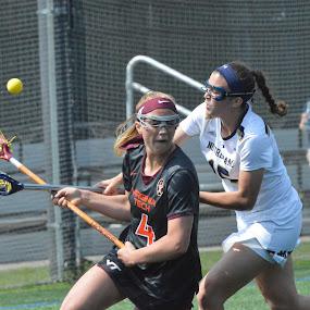 Notre Dame Women's Lacrosse by Benny Lopez - Sports & Fitness Lacrosse ( notre dame, kendall welch., courtney fortunato, women's lacrosse, virginia tech )