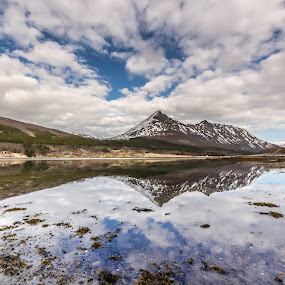 Calm sea by Benny Høynes - Landscapes Waterscapes ( mirror, cloudes, sealake, reflections, sea )