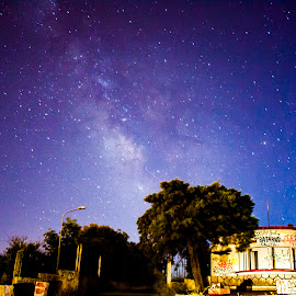 Milky Way in a abandoned place. by Paulo Lopes - Landscapes Travel ( sky, stars, long exposure, night, portugal, milky way )