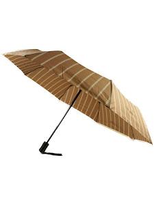 "Зонт ""Компакт L"", 110см, коричнево-белый"