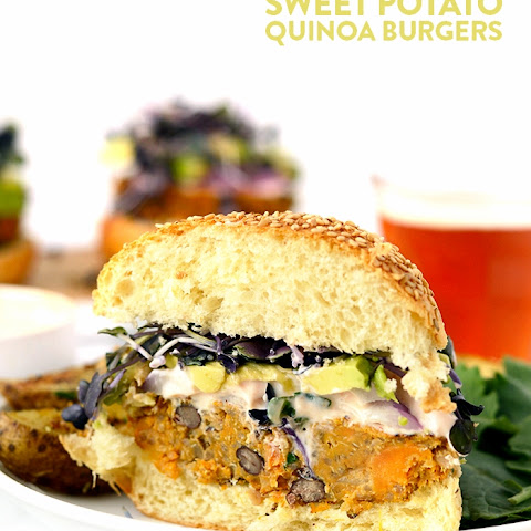 Quinoa Sweet Potato Burgers