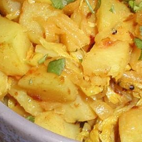 Indian Cabbage and Potato Fry