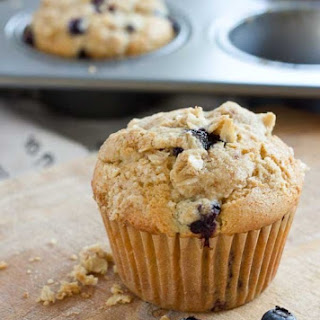 Blueberry Cheesecake Muffins with Streusel Topping