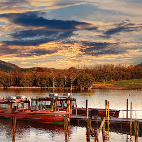 by Stephen Hooton - Landscapes Waterscapes ( boats )