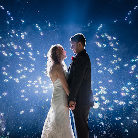 Bubbles by Lodewyk W Goosen (LWG Photo) - Wedding Bride & Groom ( wedding photography, wedding photographers, night photography, wedding day, weddings, wedding, groom and bride, bride and groom, wedding photographer, bride, groom, bride groom )