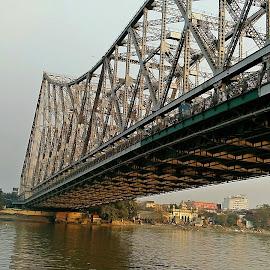 Howrah Bridge Photography by Dhiraj Sarkar - Instagram & Mobile Android ( #, #howrah_bridge_photography, #mobile_photography, #bridge_view_at_afternoon, #howrah_bridge_view, #view_from_ganga )