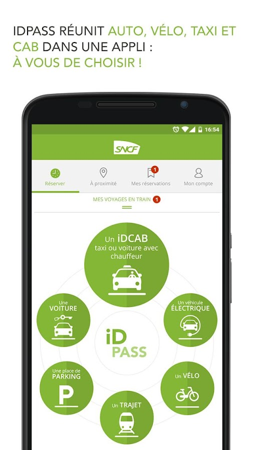 iDPASS SNCF Screenshot