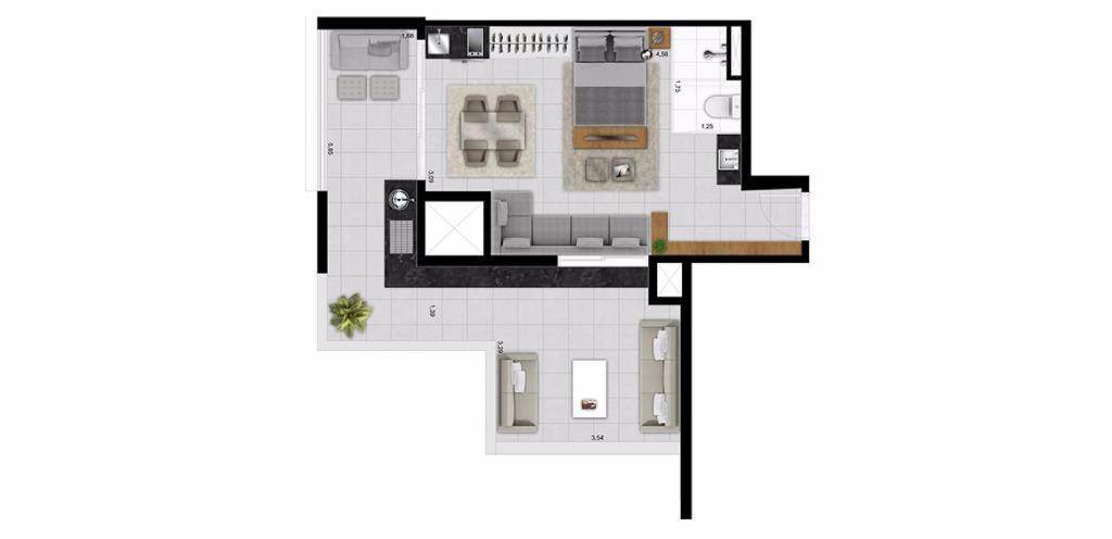 Planta UpHouse 57
