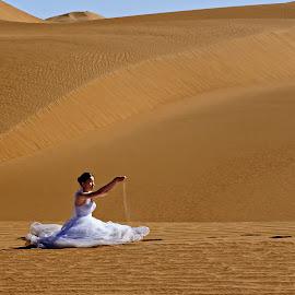 A bride at desert by Crispin Lee - Wedding Bride