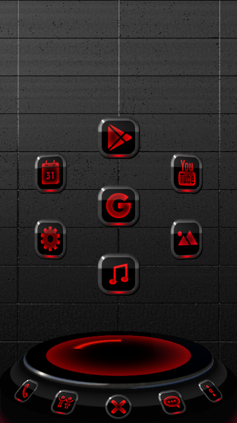 Next Launcher Theme Neon Red Screenshot 2
