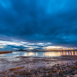 Penang Bridge by Lim Keng - Landscapes Cloud Formations