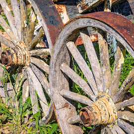 Wagon Wheels by Dave Lipchen - Artistic Objects Other Objects ( wagon wheels )