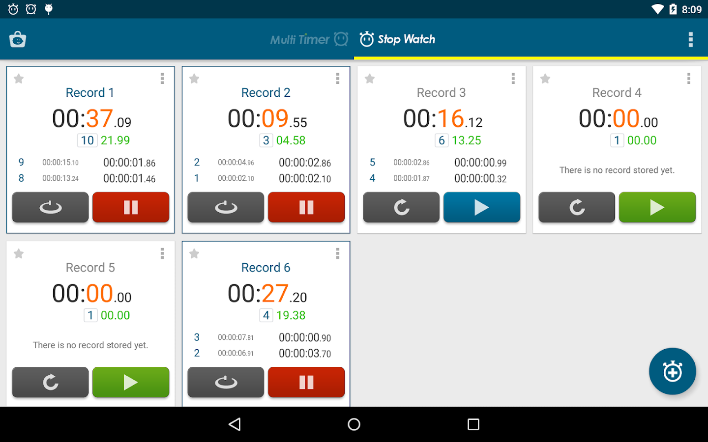 Multi Timer StopWatch Screenshot 14