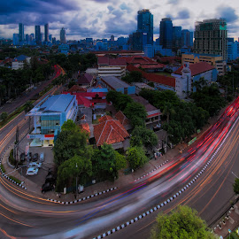 Light Trail by David Loarid - City,  Street & Park  Street Scenes