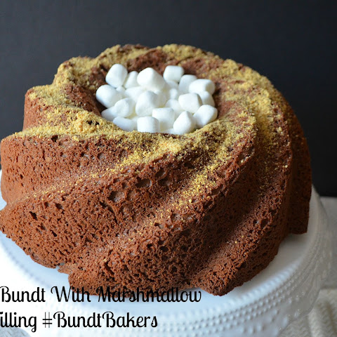 Chocolate Bundt With Marshmallow Graham Filling #BundtBakers