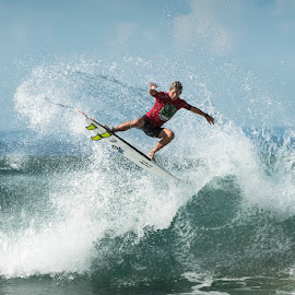 surfer turn by Leticia Cox - Sports & Fitness Surfing ( water sports, surfer, waves, action, beach )