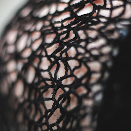 'something I wore' by Kimberley Leahy - Abstract Patterns ( abstract, pattern, clothing, fun, canon eos, close up, black )