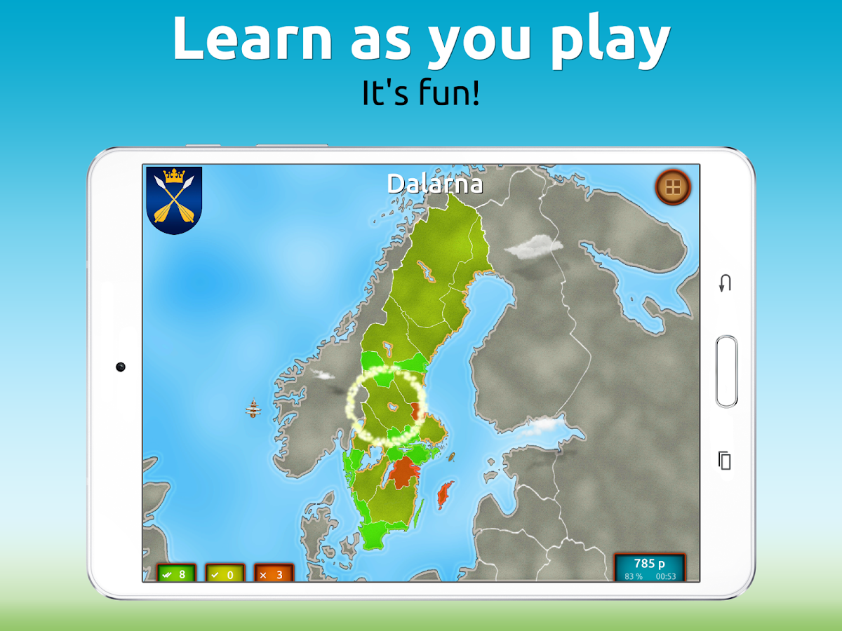 GeoExpert - Sweden Geography Screenshot 11