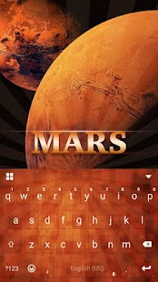 Mars Theme for Emoji iKeyboard - screenshot