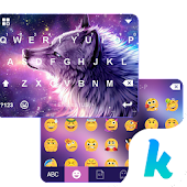 App Night Wolf Kika Keyboard Theme version 2015 APK