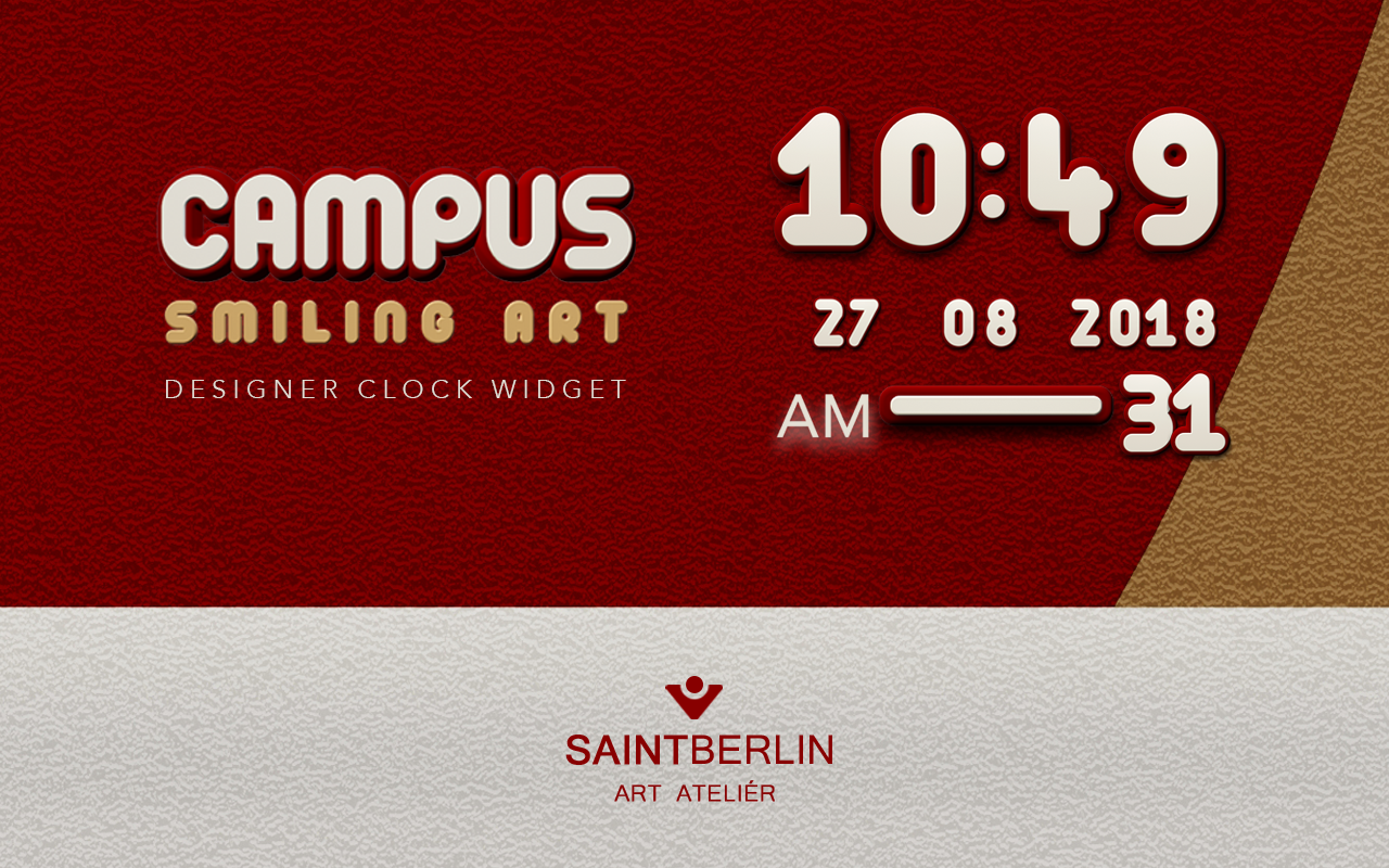 Campus Digital Clock Widget Screenshot 2