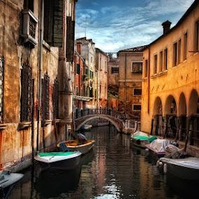 Streets of Venice by Vasja Pinzovski - City,  Street & Park  Neighborhoods