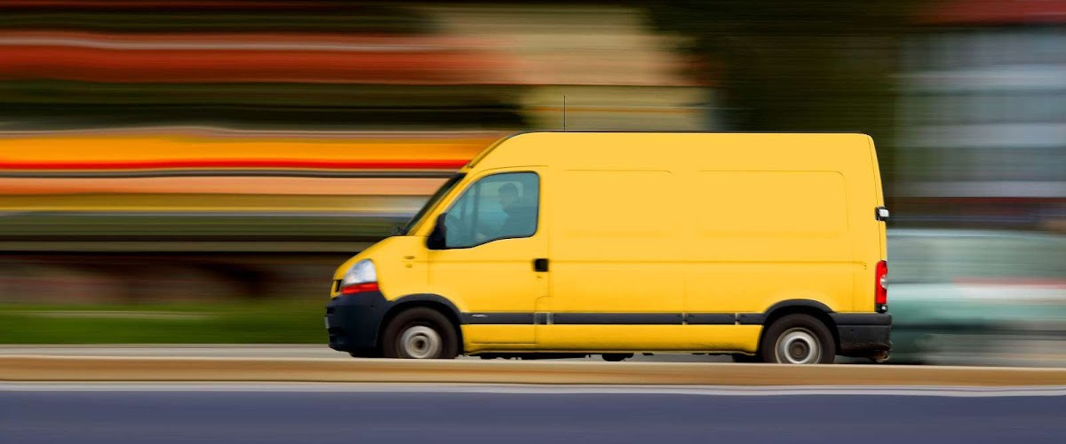 Yellow Man with a van