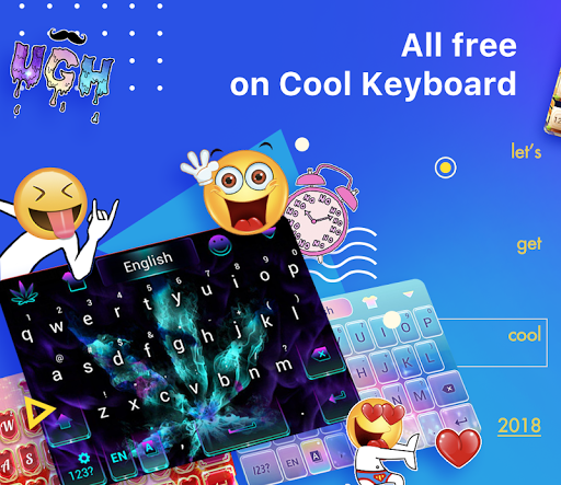 Cool Keyboard-Emoji, GIFs, Wallpapers For PC