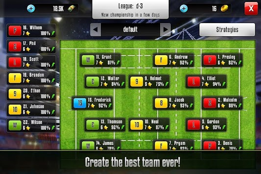 Rugby Manager APK screenshot thumbnail 2