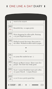 DayGram - One line a day Diary Screenshot