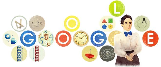 Image result for google doodle emmy noether