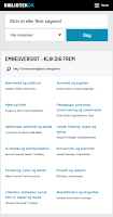 Screenshot of Bibliotek.dk bogmærke