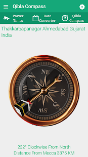 Qibla Compass Pro & Prayer Times Screenshot