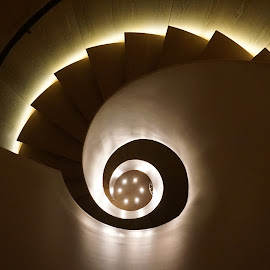 Spiral Staircase by Victor Mirontschuk - Buildings & Architecture Other Interior ( interior, staircase, nyc, hotel, places, architecture,  )