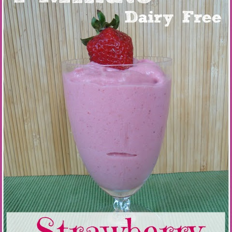 7-Minute Strawberry Ice Cream ~ Dairy Free Option