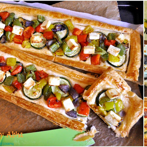 Oven roasted Vegetable Tart
