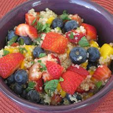 Mango, Blueberry, and Ginger Fruit Salad
