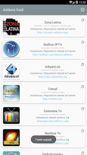 Addons für Kodi android apps download
